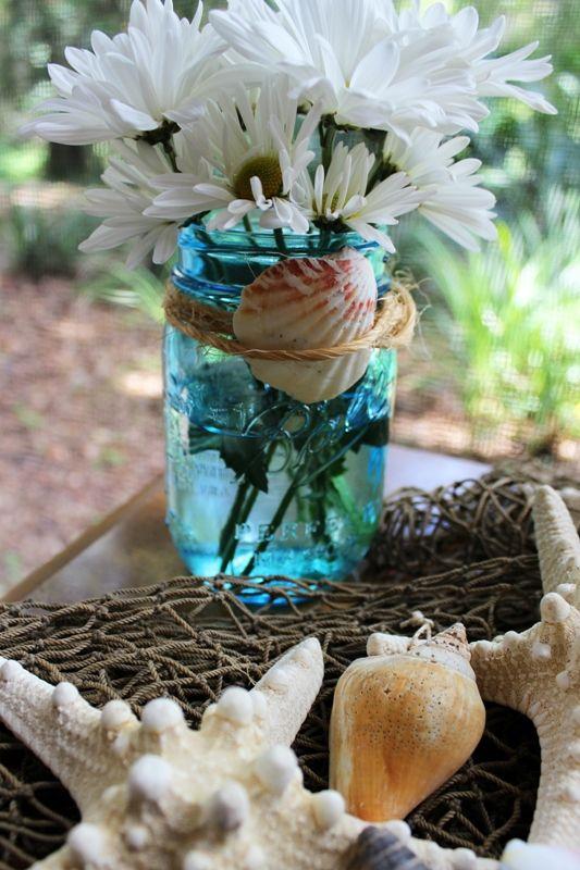 Best ideas about beach mason jars on pinterest