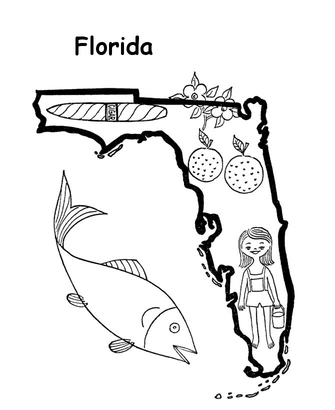 85 best florida images on pinterest coloring books for Florida flag coloring page