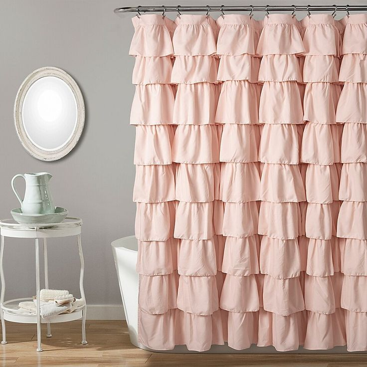 Galion Ruffled Semi Sheer Single Shower Curtain Ruffle Shower Curtains White Ruffle Shower Curtain White Shower Curtain