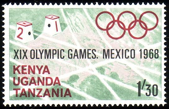 Stamp from Kenya, Uganda, Tanzania | Mexico City 1968, Olympic Games