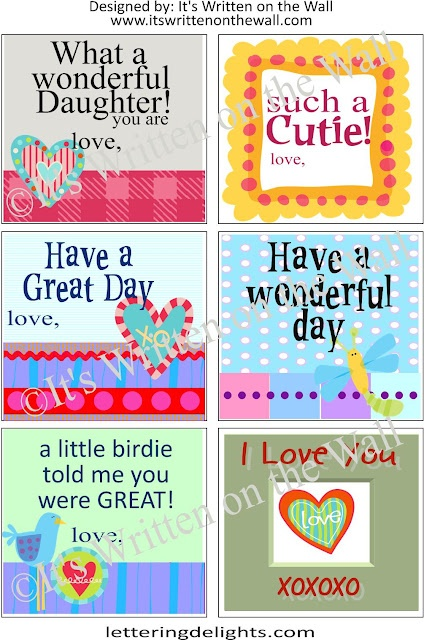 {Free Printables} Lunchbox Notes For Kids-8 Sheets