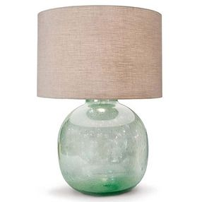 The Seeded Recycled Glass Lamp by Regina-Andrew Design goes coastal chic with its sea foam colored glass. Crafted from recycled glass, tiny bubbles add natural character to this lovely lamp. http://www.luxehomephiladelphia.com/Seeded-Recycled-Glass-Lamp-Regina-Andrew-Design-p/oinz20990.htm