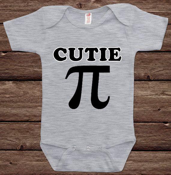 Cutie Pie Math Joke Geek Nerd Science Humor Funny Fun Nerd Adorable Cute Shower Baby Infant Bodysuit Clothes Onesie Top Tee Shirt Tshirt