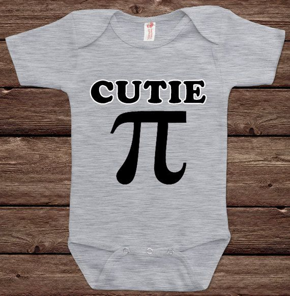Cutie Pie Math Joke Geek Nerd Science Humor Funny Fun Nerd Adorable Cute Shower Baby Infant Bodysuit Clothes Onesie Top Tee Shirt Tshirt