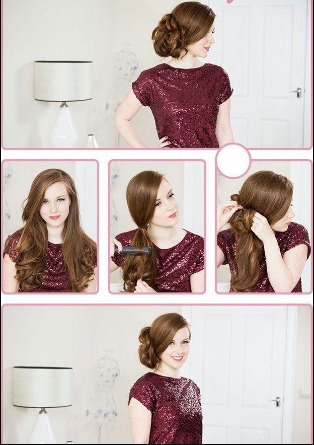 Как красиво собрать волосы сбоку: урок прически на свадьбу или выпускной