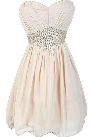 Angel Whisper Beige Embellished Chiffon Designer Dress