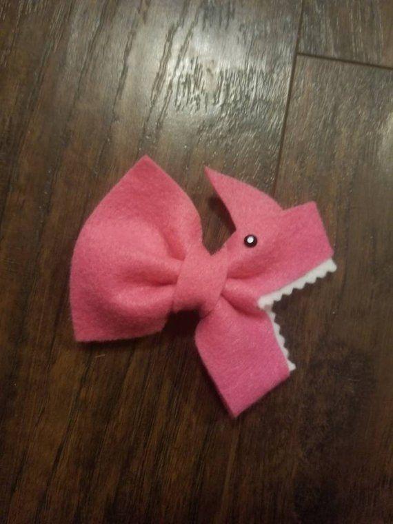 cute baby shark clip bows Baby Shark Bows