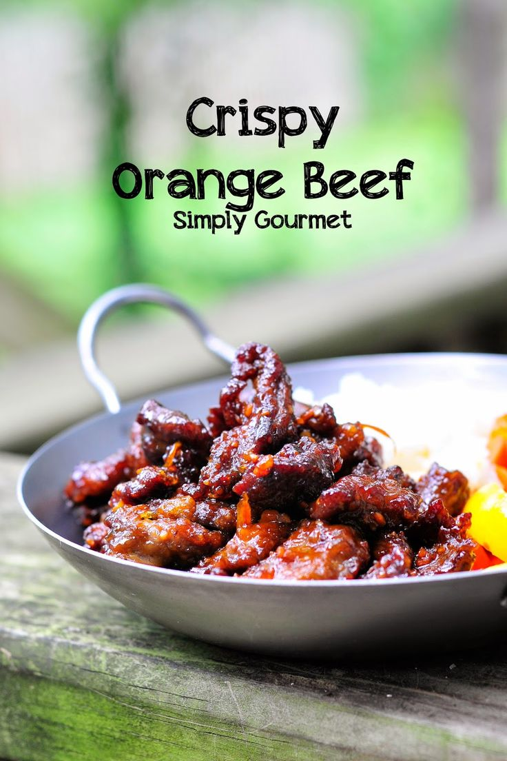 Simply Gourmet: Crispy Orange Beef - sub out rice vinegar.