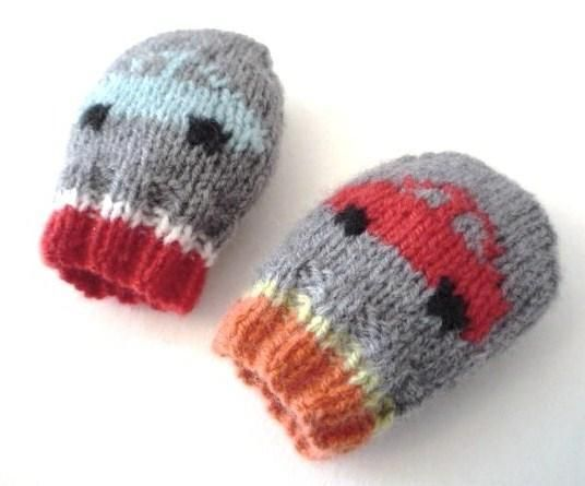 Baby Mittens - Little Cars - via @Craftsy