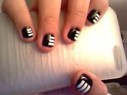 Soul Eater Death the Kid Nails. one of these days i will paint my nails. and i will try that