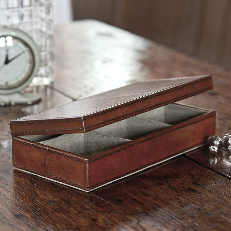 leather cufflink box by life of riley | notonthehighstreet.com