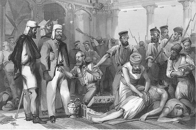 British soldiers looting Qaisar Bagh Lucknow - Indian Rebellion of 1857 - Wikipedia