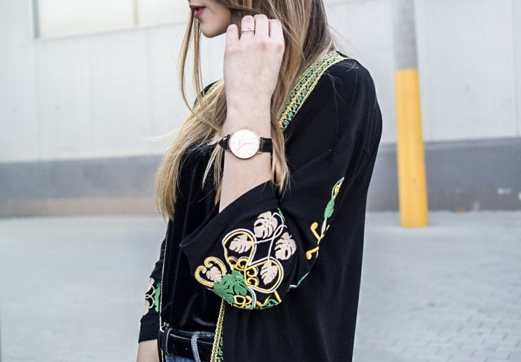 embroidered, style, street style, street fashion, ootd, look, style, inspiration, bloger, fashionist, stylist, cluse, watches inspirations,