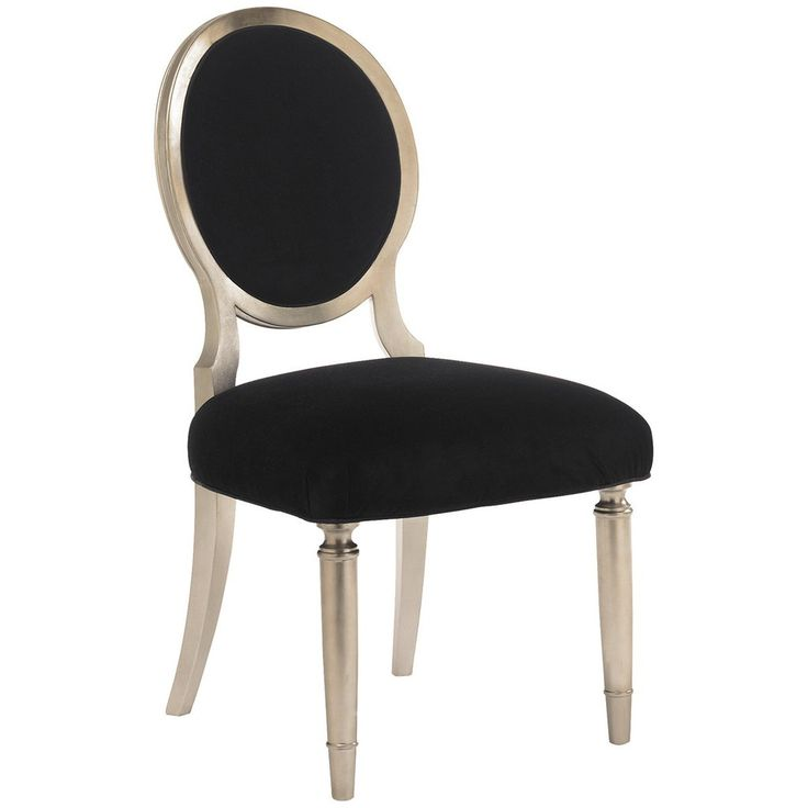 Caracole, Side Chair, Taupe silver leaf, Ash Solids, Black velvet, Dining Side Chair