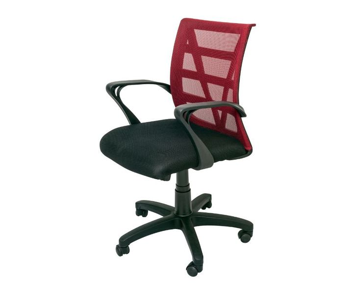 Rapidline Vienna Mesh Back Operator Chair Red