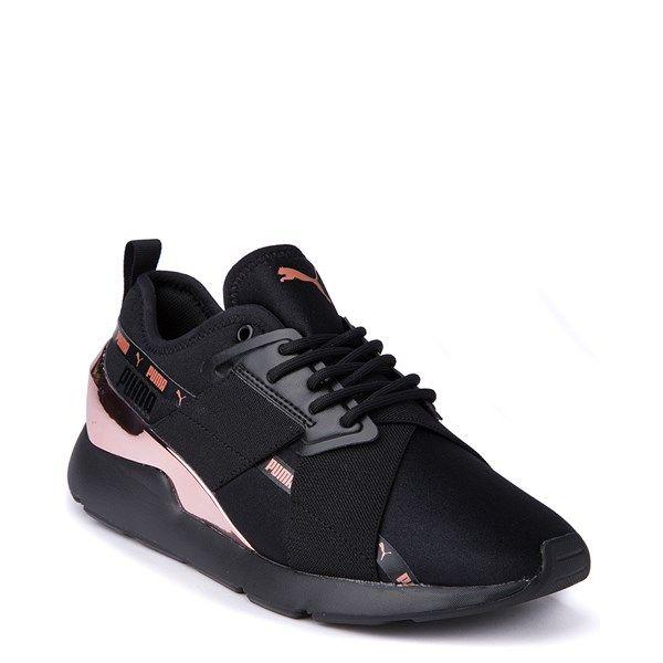Womens Puma Muse X 2 Athletic Shoe Black Rose Gold Journeys In 2020 Black Puma Shoes Puma Shoes Women Fashion Athletic Shoes