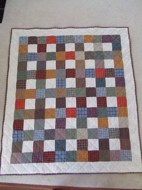 Plaid Plaid Quilt by sewcurious, via Flickr
