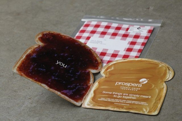 Prospera Credit union peanut butter and jam direct mail More