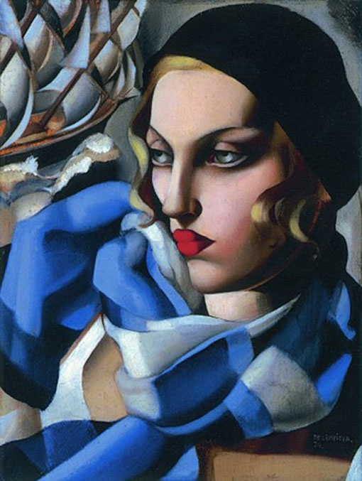 "Tamara de Lempicka, born Maria Górska in Warsaw, Poland, was a Polish Art Deco painter and ""the first woman artist to be a glamour star""."