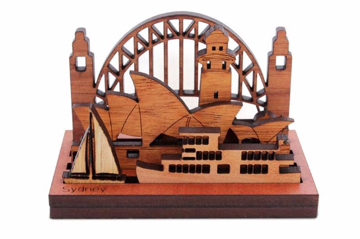 Handmade Mini Wooden Sydney replica