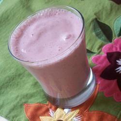Banaan-aardbeien smoothie