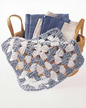 Granny Square Cloth Crochet Pattern | FaveCrafts.com
