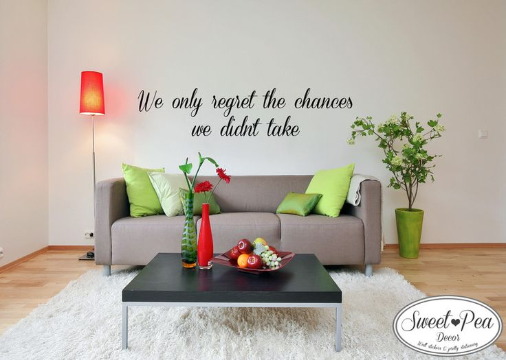 We only regret Sticker (SWP001) by Sweet Pea Decor
