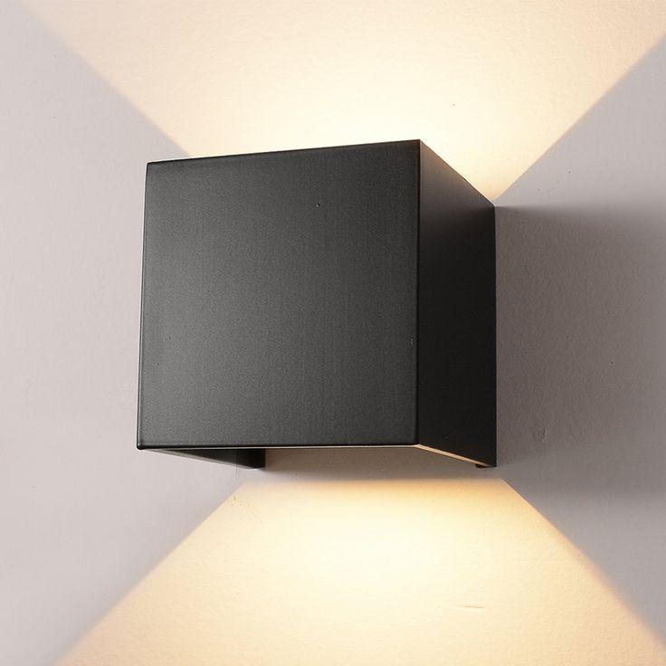 Led Aluminum Waterproof Wall Lamp 12w 85 225v 3200k Adjustable Outdoor Wall Light Warm Light 2leds Black Affilia Wall Lights Outdoor Wall Lighting Wall Lamp