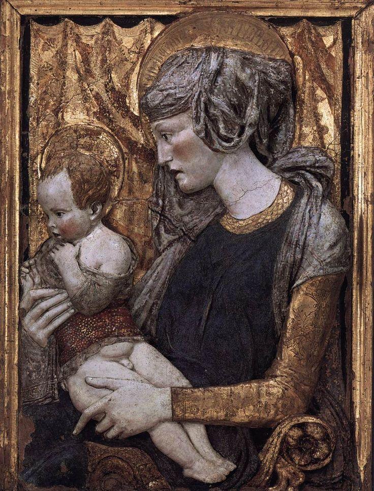 Donatello: Madonna and Child (Polychrome terracotta) (1440) Italian