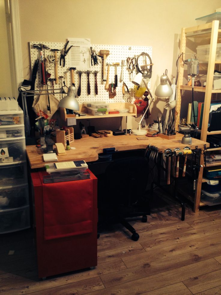 "The latest renovation of my jewellery bench, aka the ""Frankenbench"""