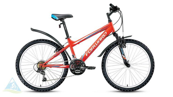 Велосипеды спортивные горный 24 Forward Titan 2.0 low крас.
