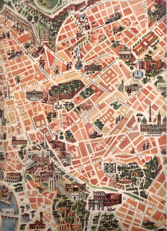 Map of Rome. Check out our latest post about Rome: http://openupnow.net/2014/05/04/dolce-vita-in-rome/