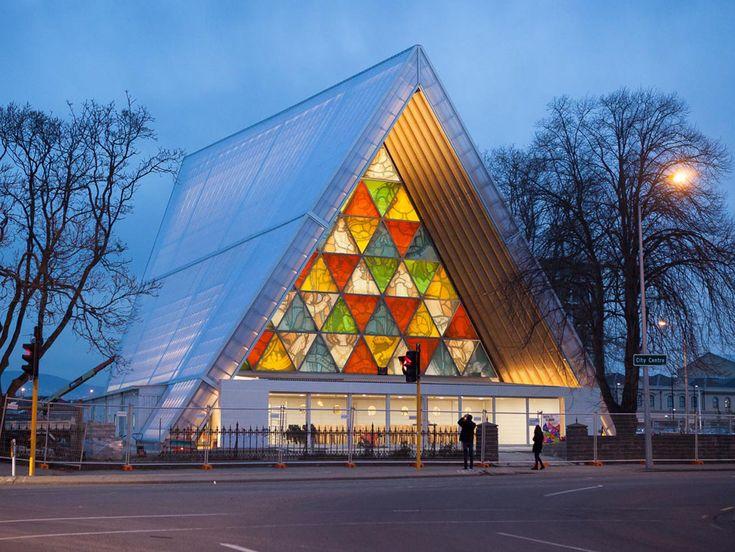 Christchurch, New Zealand. The Cardboard Cathedral. Shigeru Ban, 2013. 坂茂建築設計 | Shigeru Ban Architects