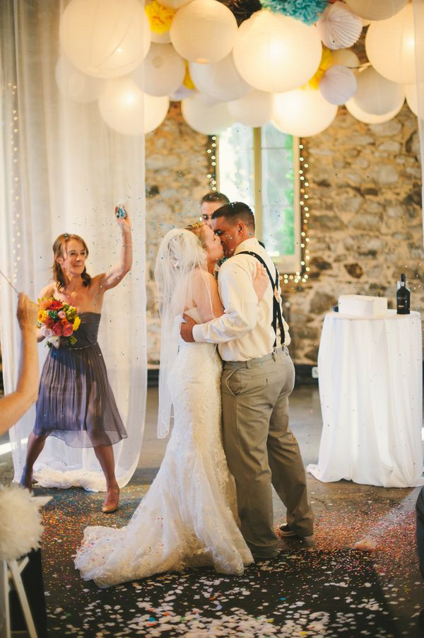 confetti kisses // photo by Sarah Maren // View more: http://ruffledblog.com/confetti-filled-california-wedding/