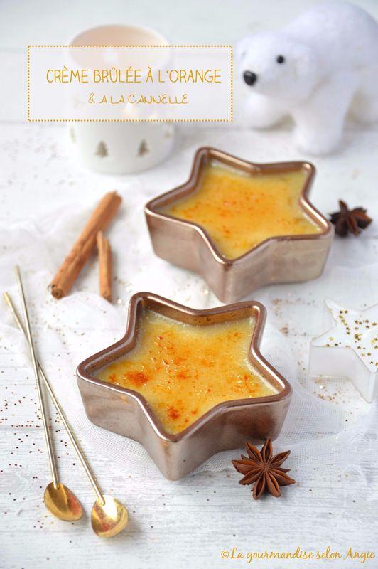 Crème brûlée à l'orange & à la cannelle