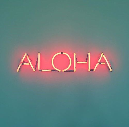 Cute Trendy Wallpapers Quotes Laptop Aloha Neon And Marquee Lights In 2019 Neon Signs