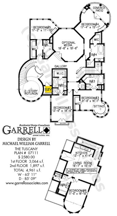 Tuscany house plan 07111 2nd floor plan mediterranean for Costa rica house plans