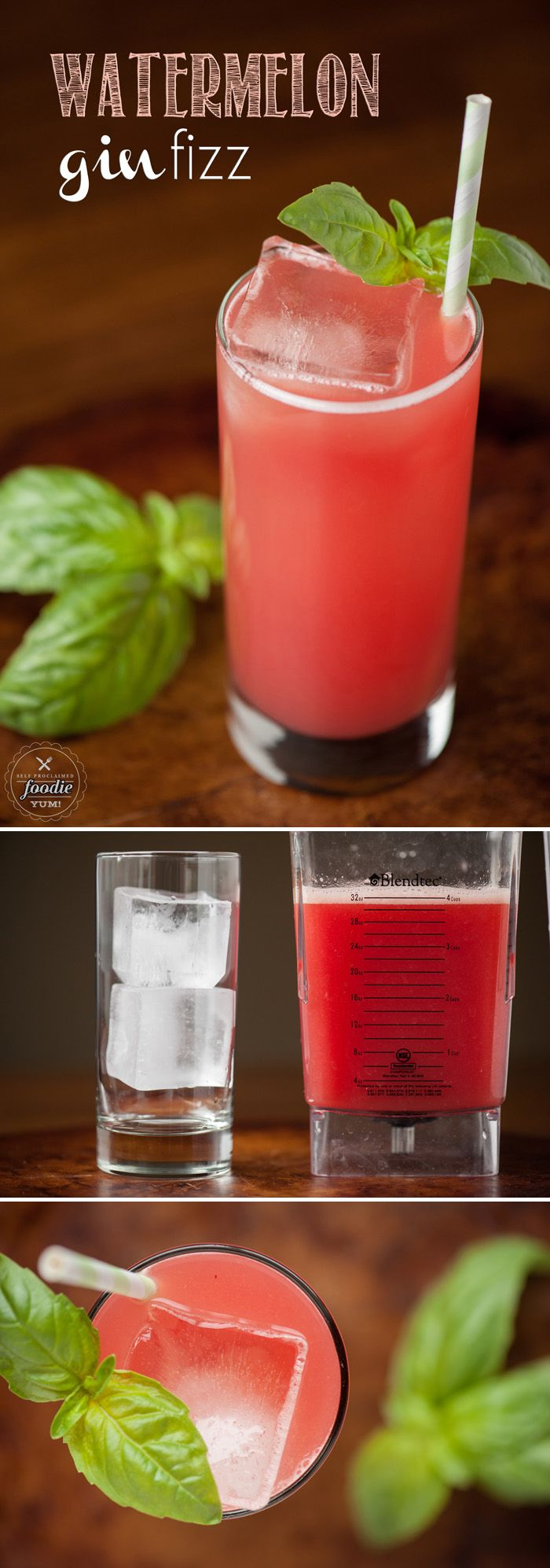 This easy and refreshing Watermelon Gin Fizz made with perfectly sweet fresh juice is the perfect cocktail to enjoy during brunch or a sunny afternoon.