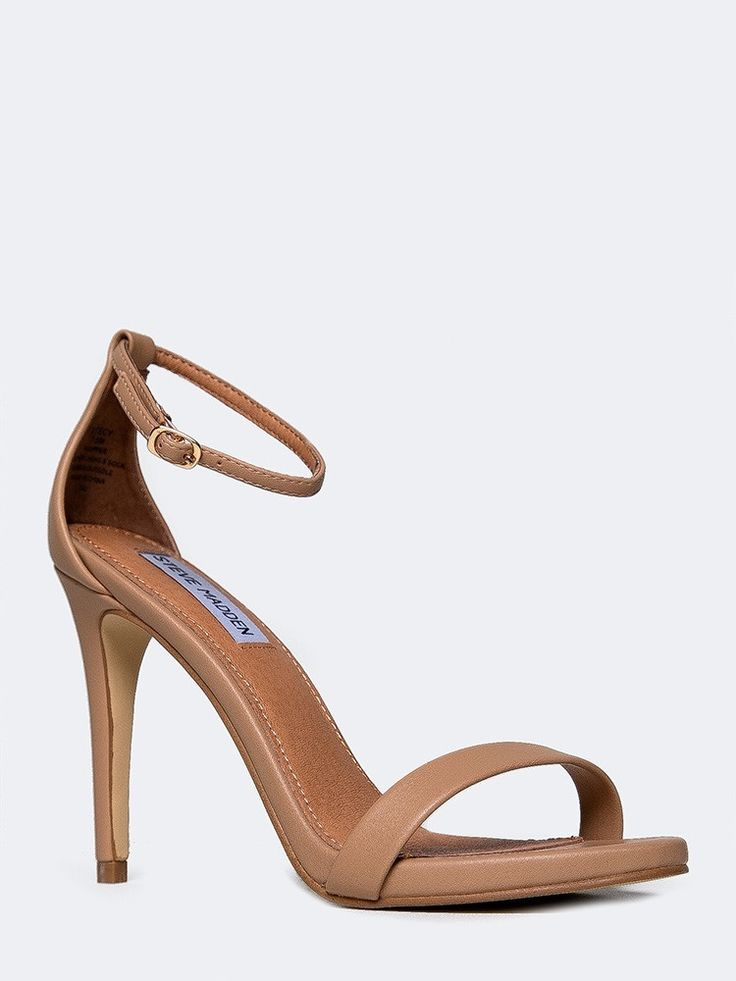 - Classically feminine and timelessly elegant, these nude sandals will be your go-to look for grand nights out in years to come. - High heel sandals have a skinny, adjustable ankle strap for a secure