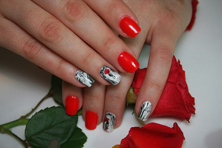 #nail art#red nails#
