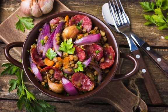saisonaler Kochkurs Dortmund – Gemüseeintopf mit Linsen