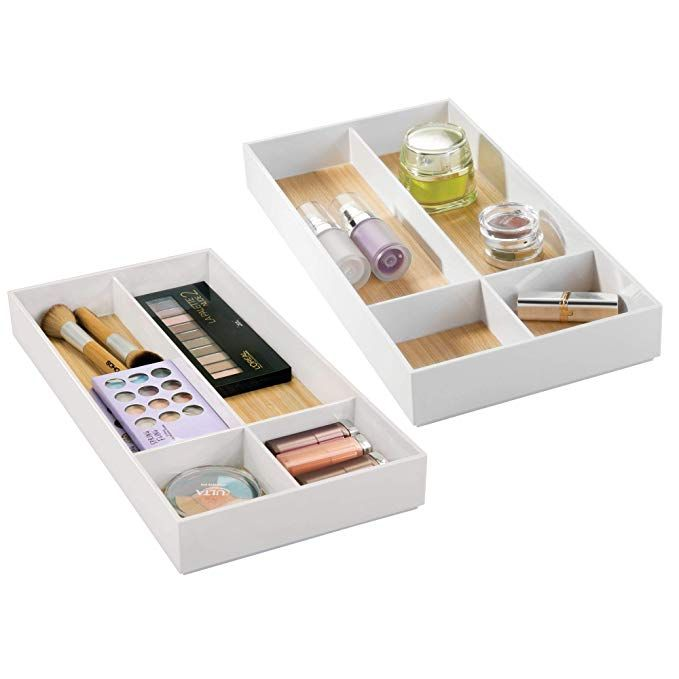 Mdesign Stackable Makeup Organizer For Bathroom Drawers Vanities