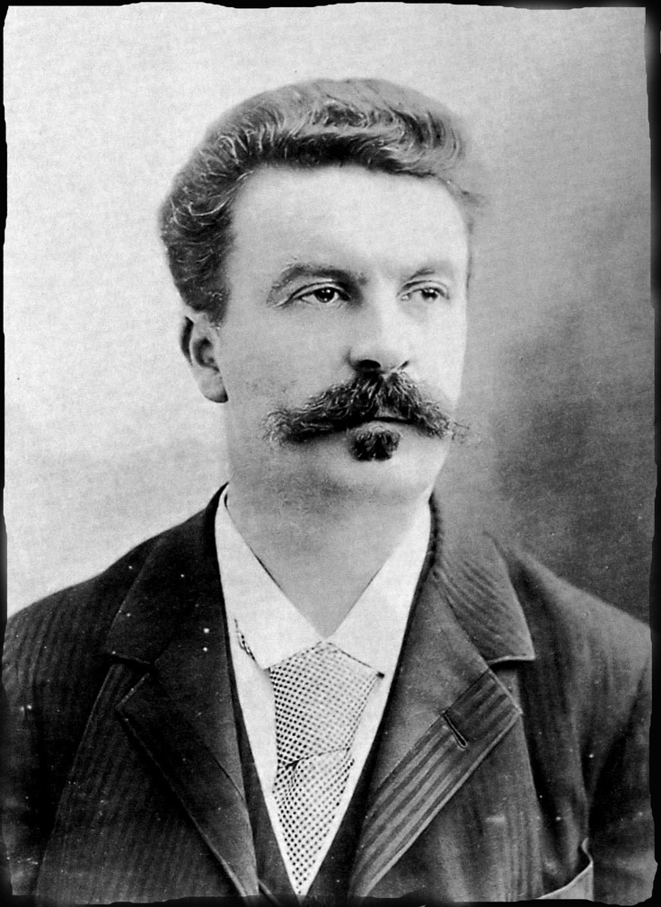 Guy de Maupassant-  Both his writings and his mustach are amazing