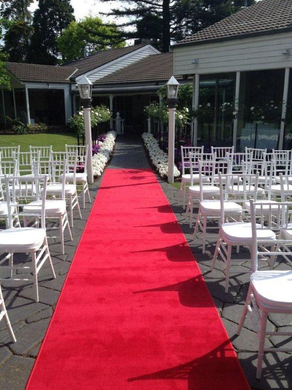 our gorgeous tiffany chairs with cushions - included for your garden ceremony.