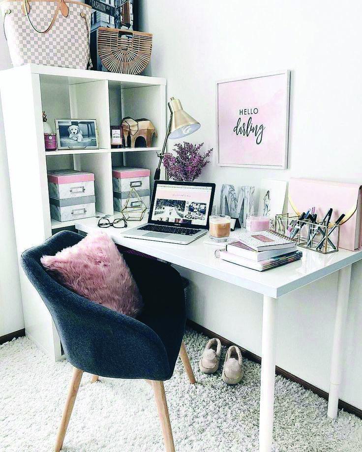 6 Office Organization Ideas Home Office Design Pink Home Offices Cute Desk Decor