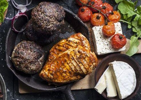 Jaime's Beef and Feta Burger