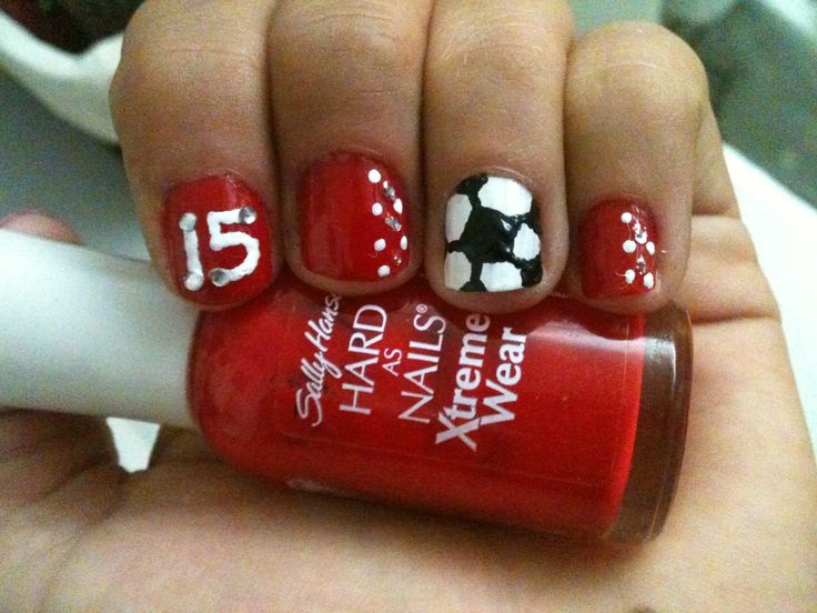 Soccer nails...would love to get w/ #9