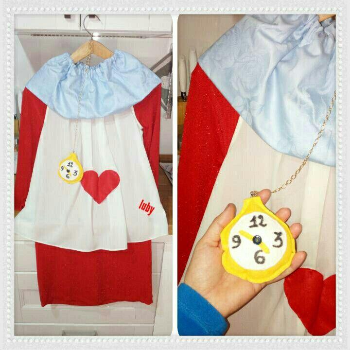 Costume bianconiglio Alice luby