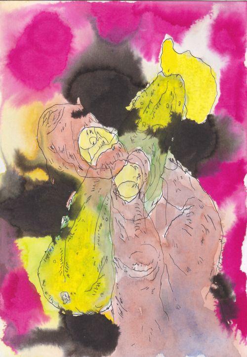 K. Gatavan. Ogurechik. Watercolor, pen and ink, 2016. #Conceptual Art #концептуальное искусство #Arte concettuale #Art conceptuel #Arte conceptual #Konzeptkunst ?✏️ - https://wp.me/p7Gh1Z-2Nj #kunst #art #arte #sztuka #ਕਲਾ #konst #τέχνη #アート