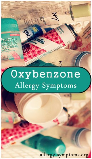 These ingredients may trigger oxybenzone allergy symptoms in hypersensitive people. In 2014, American Contact Dermatitis Society declared Benzophenones as allergen of the year. Oxybenzone belongs to these aromatic ketones. (Source: Dermnetnz.org) http://allergy-symptoms.org/oxybenzone-allergy/